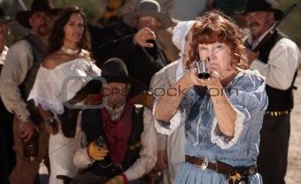Granny With Shotgun