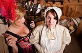 Bar Maid and Lay in Bonnet