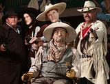 Old West Bandit with Gang