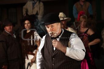 Doubtful Old West Man