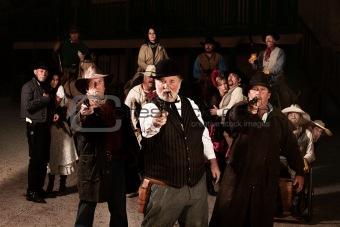 Three Old West Gunslingers