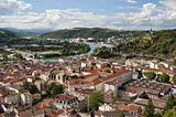 Aerial View of Vienne France from Mont Pipet