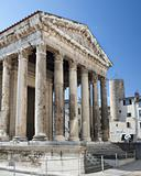 temple of augustus constructed about 15 BC in Vienne France