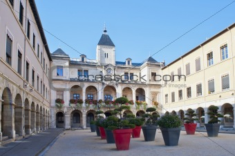 exterior and garden of the city hall in Vienne France