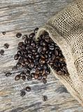 coffee beans and jute bag