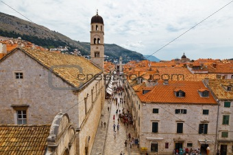 Panoramic View of Dubrovnik from the City Walls, Croatia