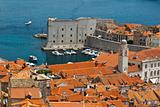 Panorama of Dubrovnik from the City Walls, Croatia