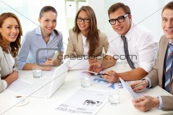 Confident colleagues