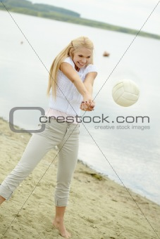 Beautiful volleyballer
