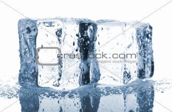 Pair of blue ice cubes