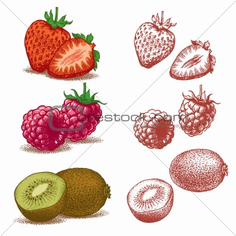 Strawberry, Raspberry, Kiwi