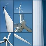 Wind turbine collage