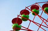 green and red Ferris Wheel