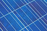 Closeup of a Solar Panel Module Diagonal