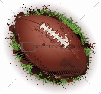 Grunge american football background