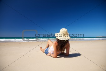 resting at Zahara beach