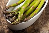 fresh green asparagus in the spring 