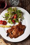 pork steak with purslane
