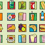 pop art food pattern