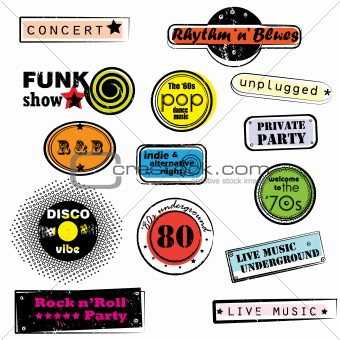 retro music stamps