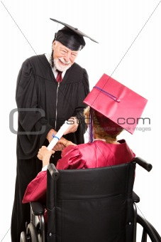 Senior Graduate in Wheelchair