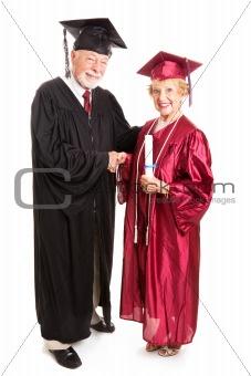 Senior Woman Graduate