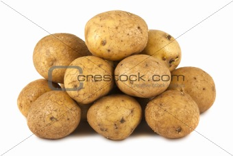 Bunch of raw potatoes