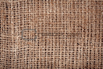 Old burlap fabric texture