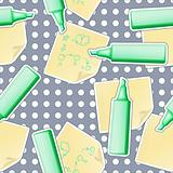 Vector Seamless business background with Sheets and Highlighters. EPS10 opacity