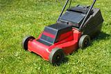 Lawnmower on grass