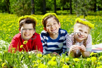 Children resting