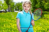 Girl with racquet
