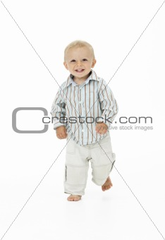 Toddler Walking In Studio