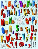 Comic book alphabet