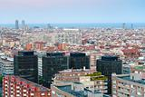 Barcelona in late blue evening