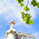 green leafs and Casa Batllo, Barcelona