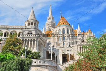 Budapest. Fisherman&#39;s Bastion and  St. Matthias church