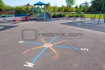 A colorful children playground