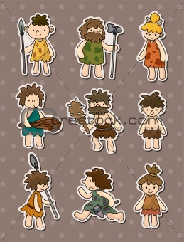 cartoon Caveman stickers