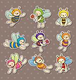 cartoon bee boy stickers