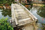 scenic wooden bridge
