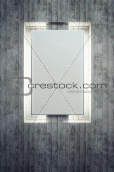 blank backlighted billboard