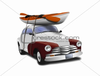 Car with Kayak on top