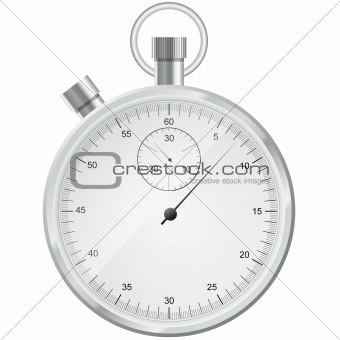 silver stopwatch