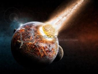 Planet landscape apocalypse
