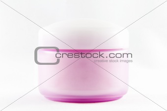 Cosmetic container with cream