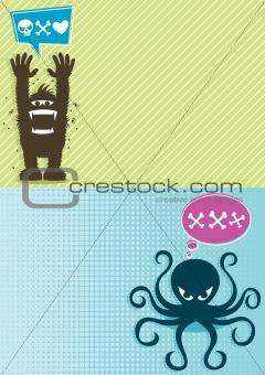 Monster Backgrounds 1