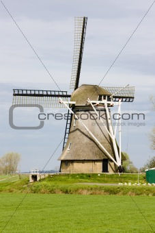 windmill near Broeksterwoude, Friesland, Netherlands