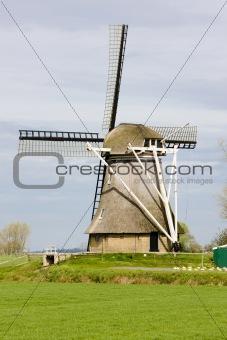 windmill near Broeksterwoude, Friesland, Netherlands