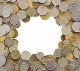 Frame made from coins